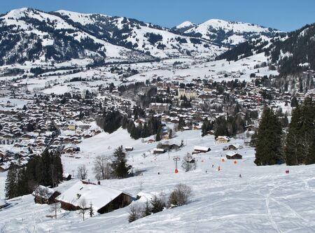 gstaad: Gstaad, famous village in Switzerland Stock Photo