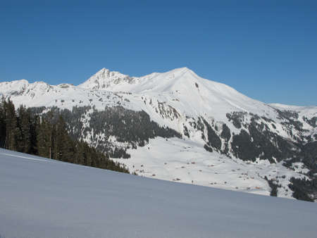 canton berne: Lauenenhorn, mountain near Gstaad