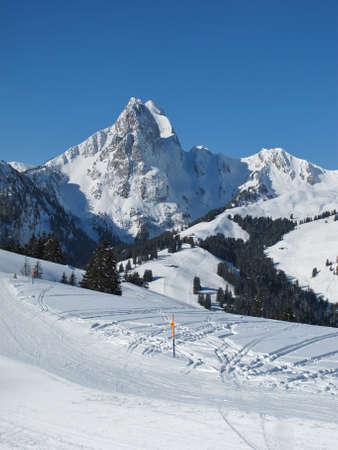 gstaad: Rüeblihorn, mountain near Gstaad Stock Photo