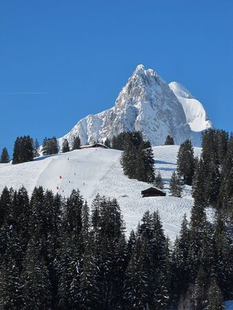 gstaad: Mountain named Rüeblihorn and ski slope