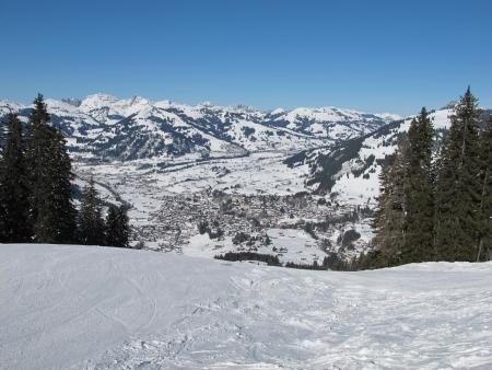 canton berne: Beautiful Gstaad in winter Stock Photo