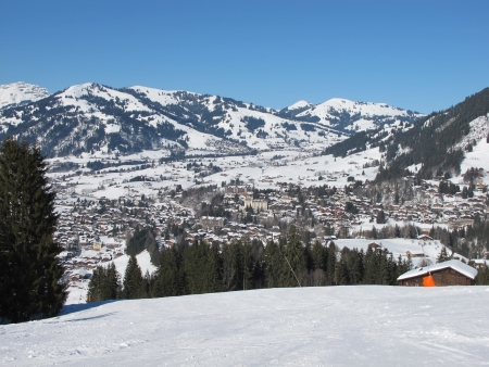 saanenland: View of Gstaad and hotel Palace