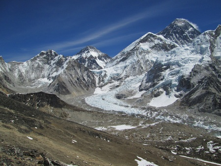 Everest Base Camp, Khumbu Glacier and Mt Everest photo