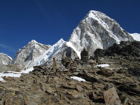 ri: High mountain named Pumo Ri and rocks