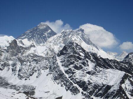 Peak of Mt Everest, view from Gokyo Ri photo