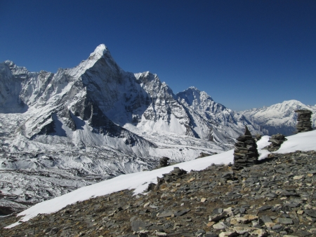 Ama Dablam, beautiful mountain in the Himalayas photo