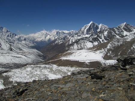 ri: Beautiful view from Chhukhung Ri, Sagarmatha National Park Stock Photo