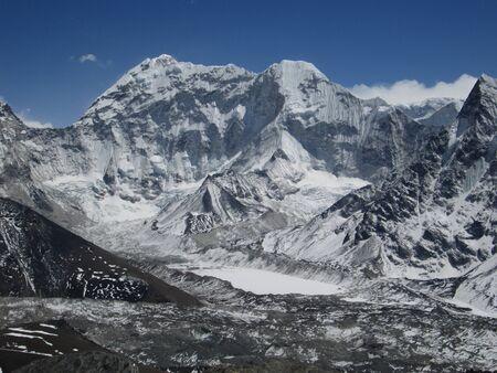 Frozen Lake Imja Tsho, Everest Region photo