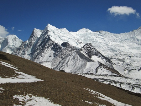 Mountains and Ama Dablam Glacier, Chhukhung photo