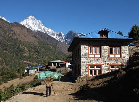 Scenery on the way from Lukla to Namche Bazar photo