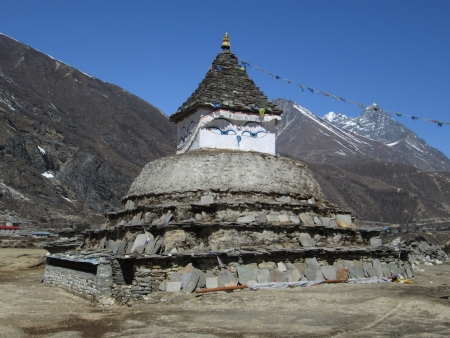 Stupa in the Everest Region, Nepal photo