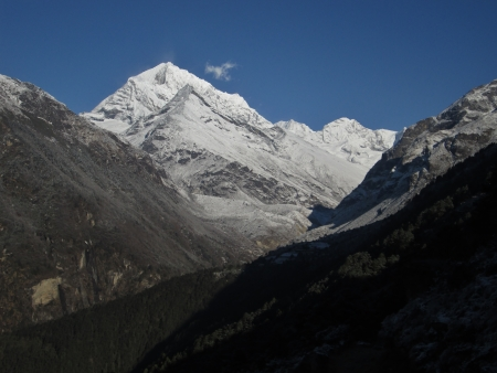 capped: Snow capped mountain in the Everest Region