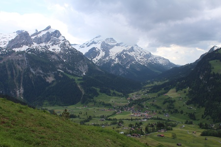 gsteig bei gstaad: Rainy day in the Bernese Oberland