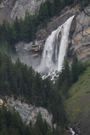 bernese oberland: Sanetschfall, beautiful waterfall in the Bernese Oberland Stock Photo