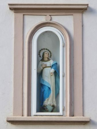 Saint Barbara statue, Idrija, Slovenia photo