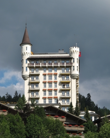 gstaad: Palace, famous hotel in Gstaad Editorial