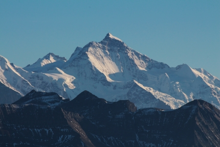 bernese oberland: Jungfrau, majestic mountain in the Bernese Oberland Stock Photo