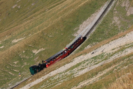 bernese oberland: Steam train heading from Brienz to the Brienzer Rothorn, Bernese Oberland