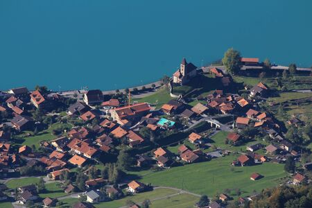 bernese oberland: Village Brienz, Bernese Oberland Stock Photo