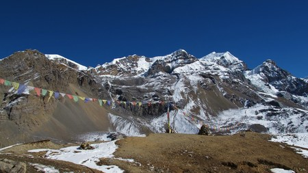 destination scenics: Purbung Himal and other high mountains of the Himalayas