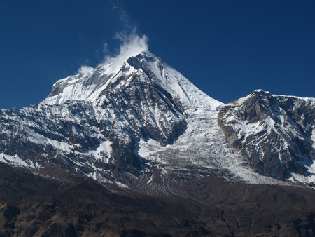 icefall: Peak of Dhaulagiri and Ice-Fall