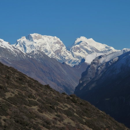 majestic mountain: Majestic mountain in the Annapurna Conservation Area
