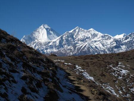 bilding: Trekking in the Himalayas, Dhaulagiri
