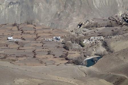 Dry fields in the Lower Mustang Region, Nepal photo
