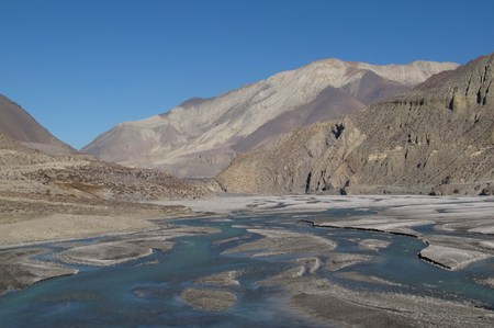 Beautiful Kali Ghandaki River photo