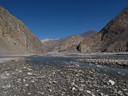 kali: Big riverbed of the Kali Ghandaki River, Nepal
