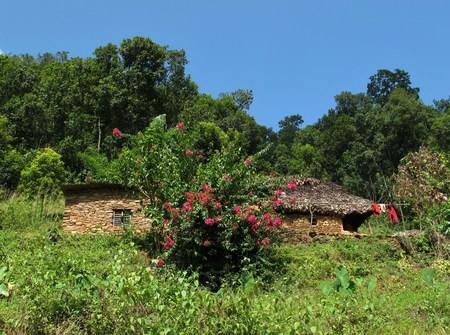 pokhara: Homestead near Pokhara Stock Photo