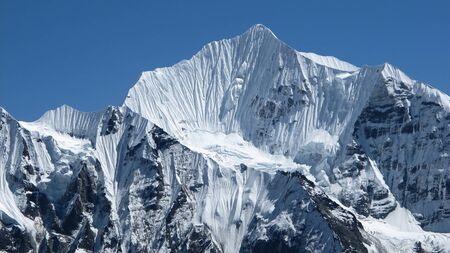 Beautiful shaped mountain Gangchempo, Nepal photo