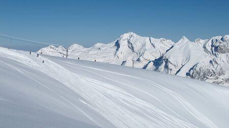 Ski slope and Mt Saentis photo