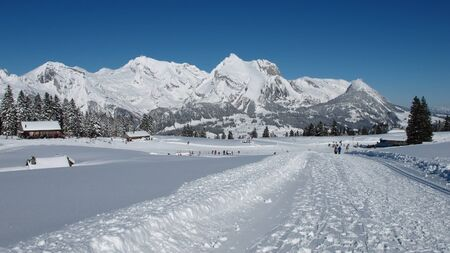 Winter day in the Swiss Alps, Mt  Saentis photo