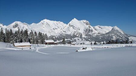 Sellamatt, ski area in Toggenburg, Mt  Saentis photo