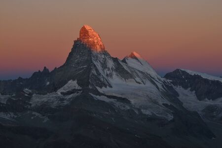 First sunlight on the Matterhorn photo
