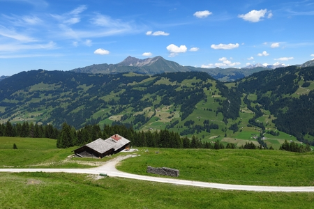 bernese oberland: Scenery near Gstaad, Bernese Oberland Stock Photo