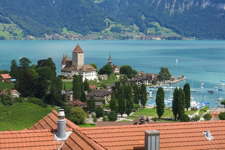 Schloss Spiez, castle at lake Thunersee