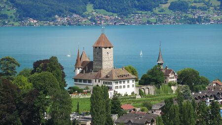bernese oberland: Schloss Spiez, castle in the Bernese Oberland Editorial