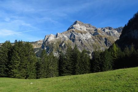 gstaad: Spitzhorn, mountain near Gstaad Stock Photo