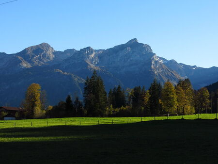 bernese oberland: Evening in the Bernese Oberland Stock Photo