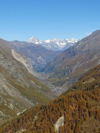 View from the Gornergrat towards Randa photo