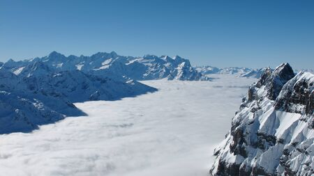 eiger: View from the Titlis towards Eiger Monch and Jungfrau