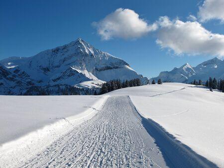spitzhorn: Ski slope on the Wispile, Spitzhorn
