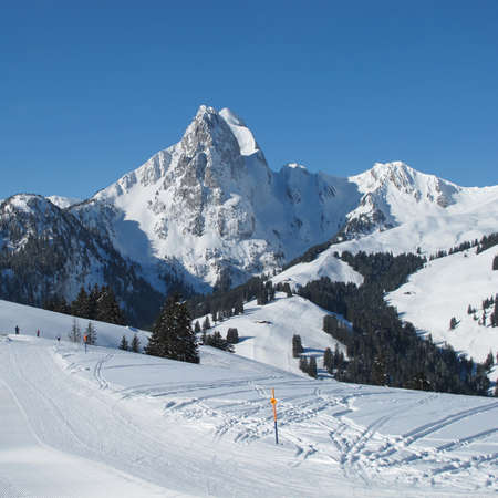 gstaad: Beautiful view from the Eggli ski area