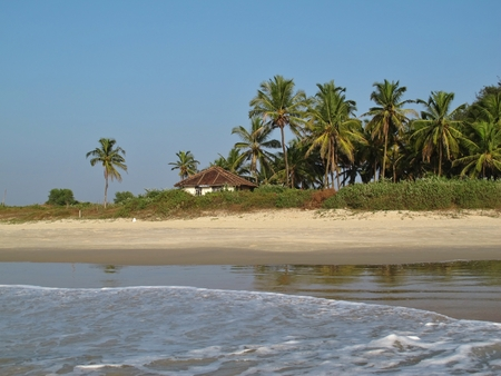Beach in Benaulim, Goa Stock Photo