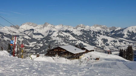 saanenland: View from the Wispile ski area in  Gstaad