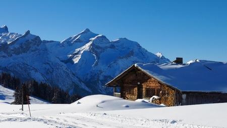 gstaad: Idyllic winter landscape near Gstaad
