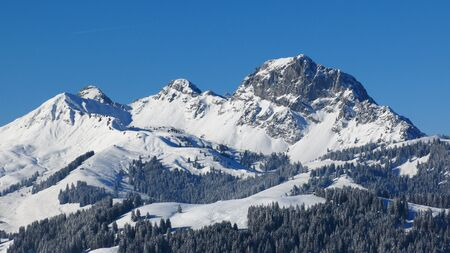 saanenland: Videmanette, mountain near Gstaad