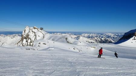 canton berne: Winter scene on the glacier de Diablerets